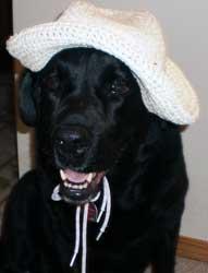 Mauli wearing a hat
